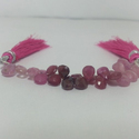 Natural Ruby Pears Shaped Faceted Briolettes Beads