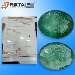 Natural Zambian Emerald with Certified By Gemological Laboratry of India