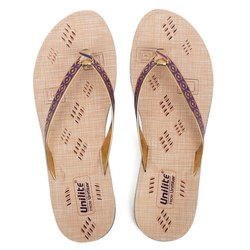 Women Purple PVC Fashion Slippers