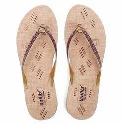 Women Purple PVC Fashion Slippers