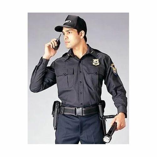b063efb9 Black Cotton Mens Security Uniform, Size: Small, Rs 650 /set | ID ...