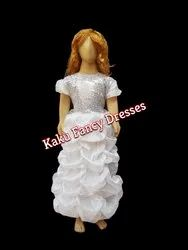 White Long Gown LCD For Fairy And Angel
