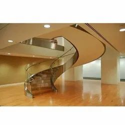Curved Stainless Steel Glass Railing