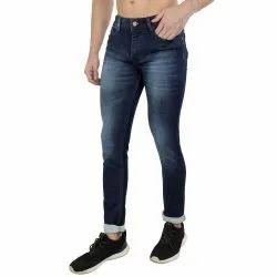 Mens Blue Heavy Knitting Denim Jeans