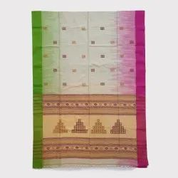 White Colour Handloom Saree