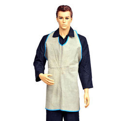 Plain Safety Leather Apron Grey for Kitchen