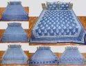Bagru Print Indigo Bedsheet