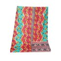 Super Fine Kantha Quilt Vintage Indian Handmade Cotton Blanket Throw