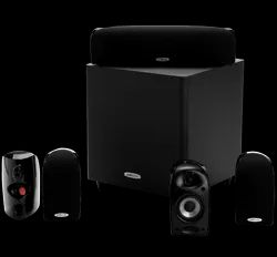 Black Polk Audio 5.1 Home Theatre Systems TL1600