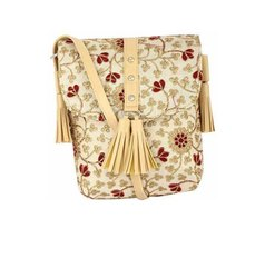 Beige Pu Leather Ladies Sling Bag