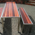 S.S. Outdoor Bench with Table