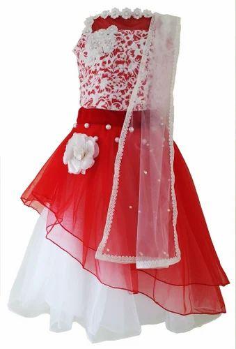 d9a3e274e2 Red And White Net Lehenga, Rs 2300 /piece, Angel Wears | ID: 14698679312