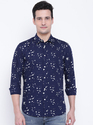 Men's Solid Casual Button Down Shirt