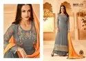Straight Embroidery Party Wear Salwar Kameez