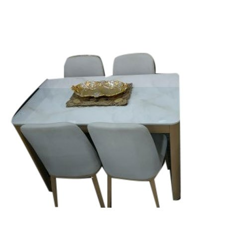 Casa Furniture Dimensions 4x2 Feet 4 Seater Marble Top Dining Table Set Rs 35000 Set Id 21966063388