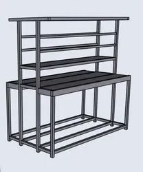 Aluminum Work Station Silver Assembly Table