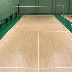 Indoor Wooden Badminton Court Flooring