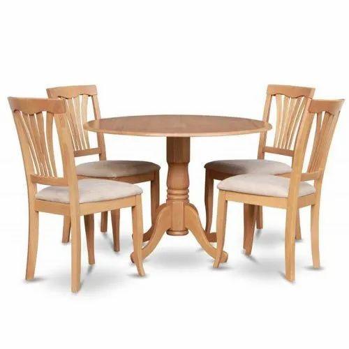 Modern Wooden Round Dining Table Set, Modern Round Dining Table Set