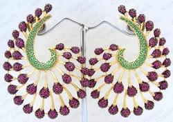 Colored Enamel Party Wear Earrings