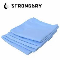 Plain Blue Premium Glass Cleaning Microfiber Cloth for Car & Home