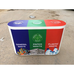 Printed FRP Dustbin