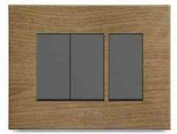 Polycab Caprina Series Teak Wood Switch Plate