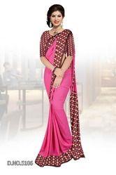 Pink Uniform Saree