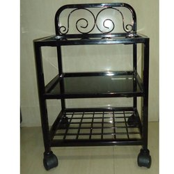 Black Glass Bed Side Tables