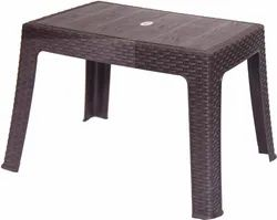 Brown Plastic Table, Size: 450mmx615mmx420mm, Model Name/Number: Sunrise 6011