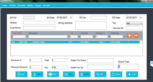 Boutique Textile Shop Billing Software With Barcode At Rs - Invoice barcode software