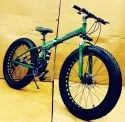Land Rover Military Green Fat Tyre Foldable Cycle