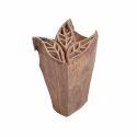 Wooden Leaf Pattern Henna Printing