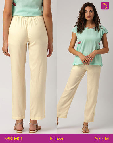 3df55a956542f9 Women Palazzo Pants Mid Waist Wide Legged Flat Front Palazzo With An  Elasticated Waist Palazzo Pant