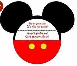 Mickey invitation card for baby birthday