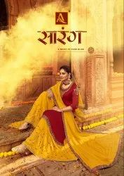 Semi-Stitched Alok Suit Saarang Innovative Style Attractive Salwar Suit
