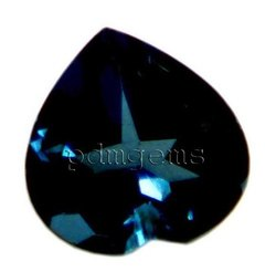 London Blue Topaz Faceted Heart Shape Gemstone