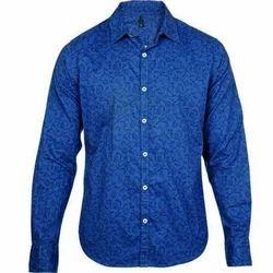 Dark Blue Men's Full Sleeve Shirt