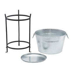 Galvanized Steel Beverage Party Tub With Iron Stand