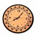 Wooden Brown Modern Wall Clock, For Home