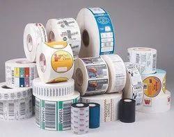Flexo White Stickers, For Fmcs, Pharma, Packaging Type: Rolls
