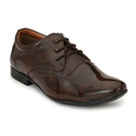 Tpr Dark Brown Lace Up Semi Formal Shoes, Size: 6-10
