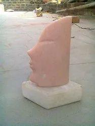 Handmade Marble Human Face Sculpture