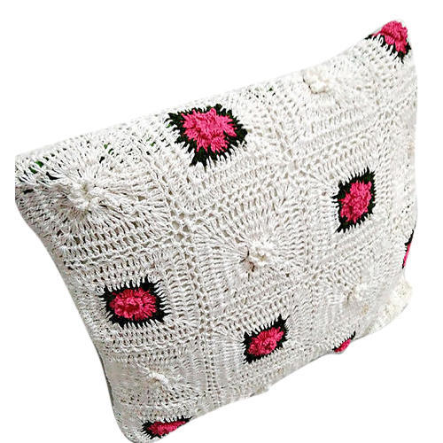 White And Black And Red Crochet Pillows Cover Patterns Size 16 By
