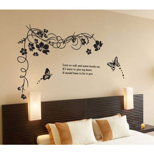 butterfly bedroom wall sticker, तितली आकार के