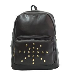 Plain Black Backpack