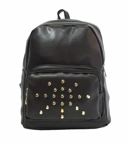 Plain Black Backpack
