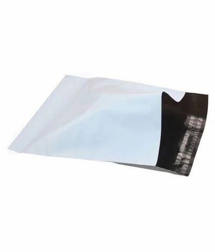 Black & White Tamper Proof Courier Bag