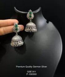 Silver Look alike Jhumka Earrings