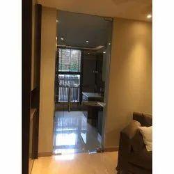 Transparent Kitchen Glass Door, Shape: Rectangular