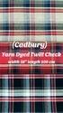 Yarn Dyed Twill Check Fabric (Cadbury)